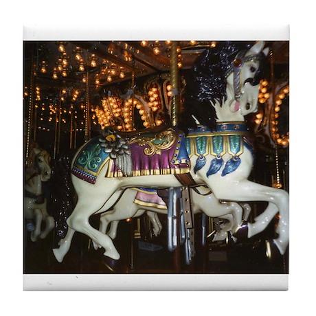 City Park Carousel Tile Coaster
