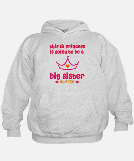 Big Sister Princess Personali Hoody