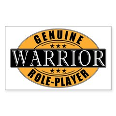Genuine Warrior Gamer Rectangle Decal