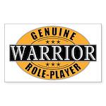 Genuine Warrior Gamer Rectangle Sticker
