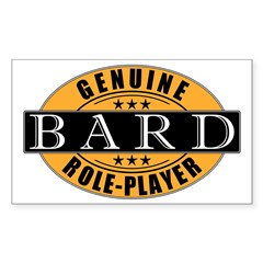 Genuine Bard Gamer Rectangle Decal