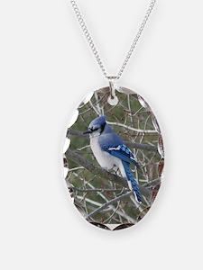 Blue Jay Necklace