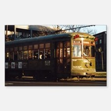 Missing the Streetcar Rectangle Decal