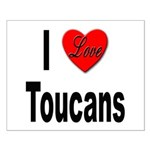 I Love Toucans Small Poster