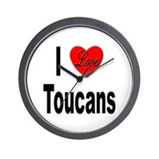 I Love Toucans Wall Clock