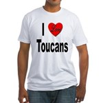 I Love Toucans (Front) Fitted T-Shirt
