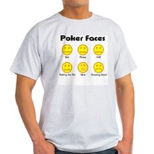 Poker Faces Ash Grey T-Shirt