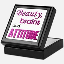 """Beauty, Brains and Attitude"" Keepsake Box"