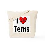 I Love Terns Tote Bag
