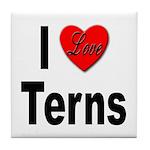 I Love Terns Tile Coaster