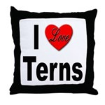 I Love Terns Throw Pillow