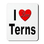 I Love Terns Mousepad