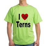 I Love Terns Green T-Shirt
