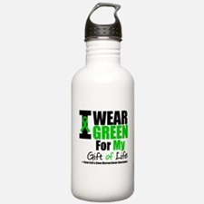 I Wear Green Gift of Life Water Bottle