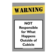 Cubicle Warning Postcards (Package of 8)