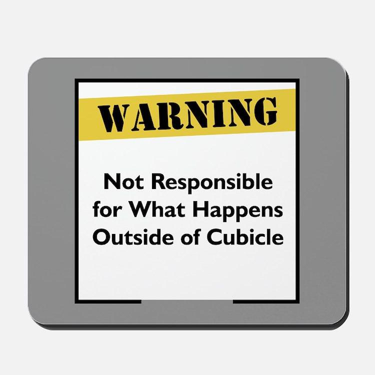 Cubicle Warning Mousepad