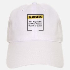 Cubicle Warning Baseball Baseball Cap