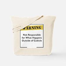 Cubicle Warning Tote Bag