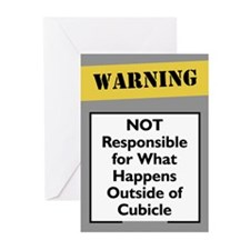 Cubicle Warning Greeting Cards (Pk of 10)