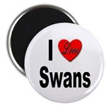 I Love Swans Magnet