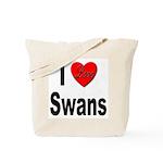I Love Swans Tote Bag