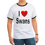 I Love Swans Ringer T