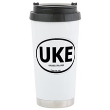 Unique Ukulele player Travel Mug