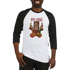 The Tiki King crossed Ukes Logo. Baseball Jersey