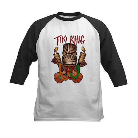 The Tiki King crossed Ukes Logo. Kids Baseball Jer
