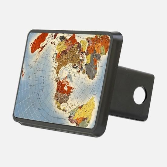 Flat Earth Map FOTA WW2 Hitch Cover