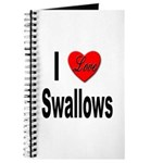 I Love Swallows Journal