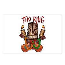 The Tiki King crossed Ukes Logo Postcards (Package