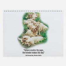 Cute Clumber spaniel Wall Calendar
