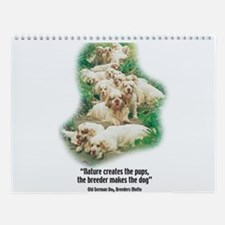 Cute Clumbers Wall Calendar