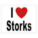 I Love Storks Small Poster