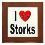I Love Storks Framed Tile
