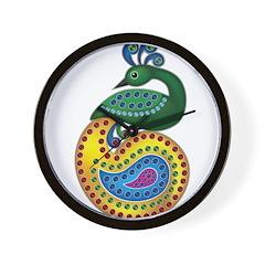 Abstract Peacock Wall Clock