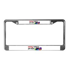 I BRAKE FOR YARN SHOPS License Plate Frame