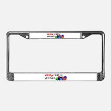 I BRAKE FOR YARN SHOPS License Plate Frame