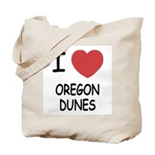 I heart oregon dunes Tote Bag