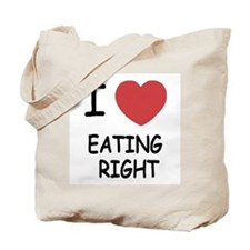 I heart eating right Tote Bag