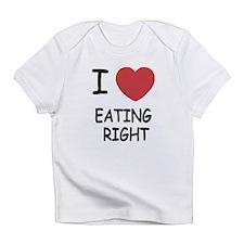 I heart eating right Infant T-Shirt