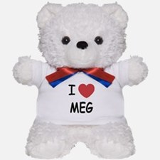 I heart meg Teddy Bear