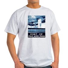 Port Of Philadelphia Ash Grey T-Shirt