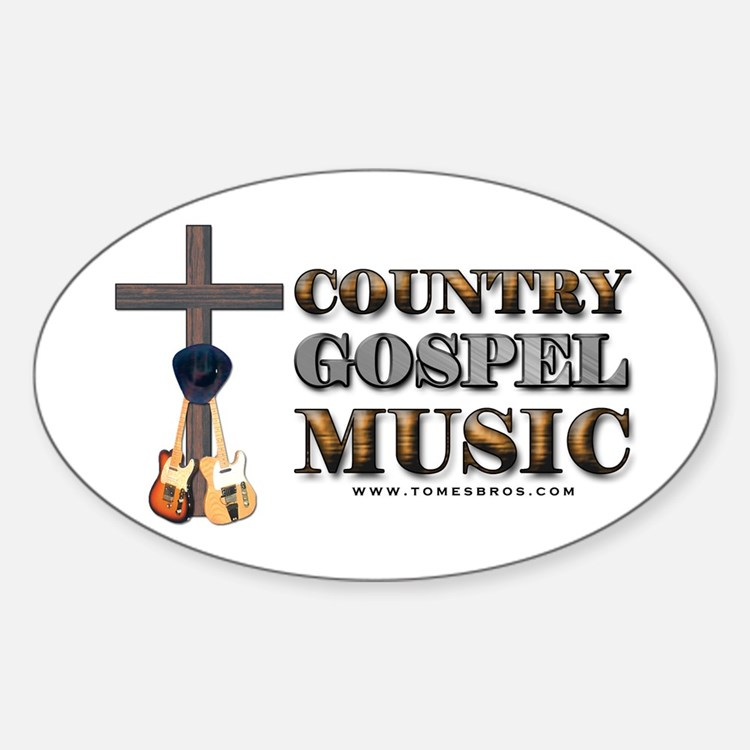 Country Gospel Music Oval Decal