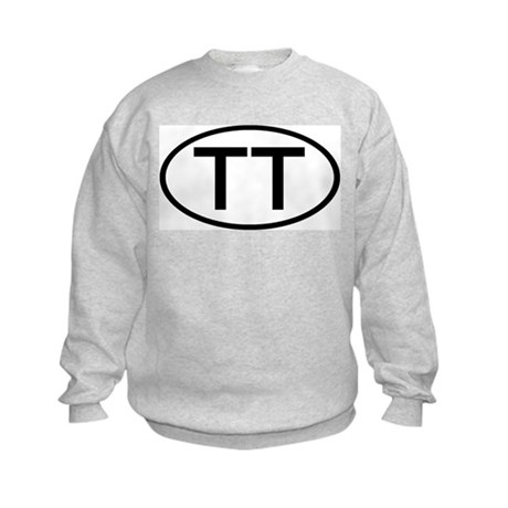 TT - Initial Oval Kids Sweatshirt