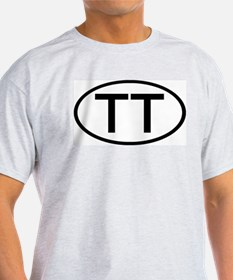 TT - Initial Oval Ash Grey T-Shirt