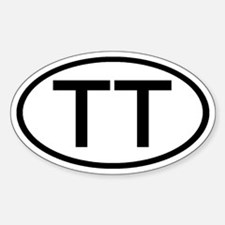 TT - Initial Oval Oval Decal