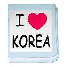 I heart korea baby blanket