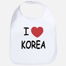 I heart korea Bib